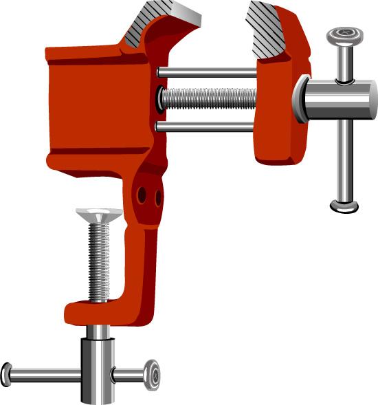 векторные слесарные тиски, инструмент,  рисунок в векторе, AI