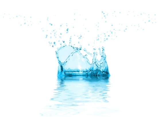 Всплеск воды, капли, брызги в векторе