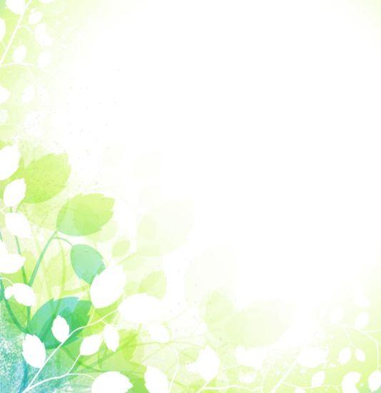 Векторный фон листья, весна
