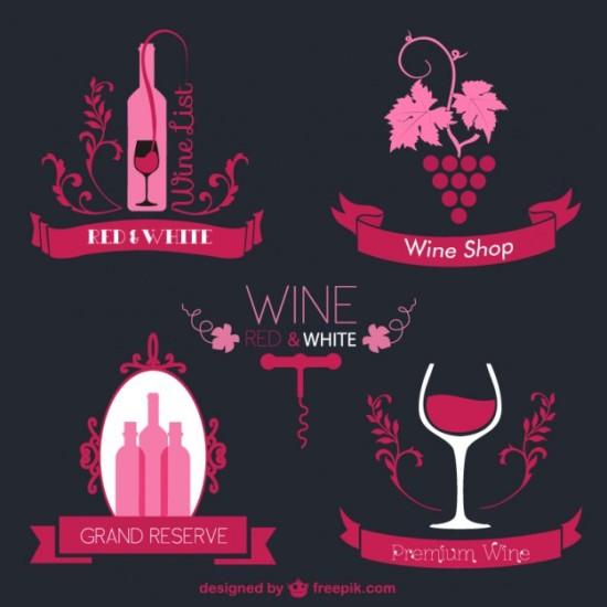 Логотипы вино в векторе.