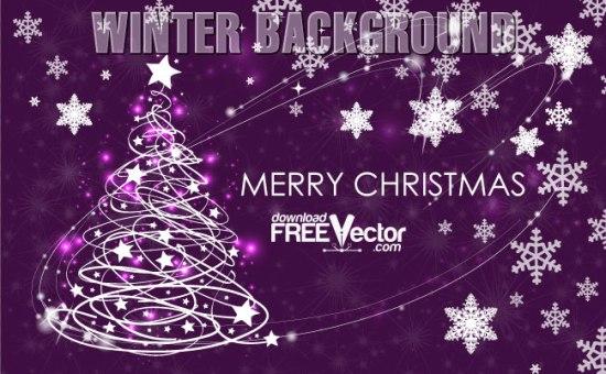 Рисунок новогодней елки в векторе